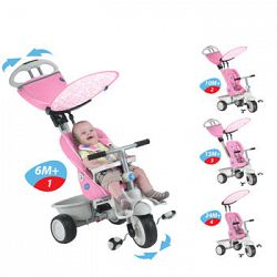 Smart Trike – Tricycle-poussette Butterfly à dossier inclinable