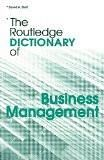 The Routledge Dictionary Of Business Management By David A. Statt, PB