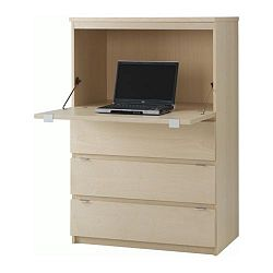 Meuble secretaire blanc ikea for Secretaire meuble ikea