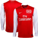 Nike Arsenal Authentic Home Long Sleeve Soccer Jersey 11/12 - Red-White