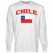 Chile Flag Long Sleeve T-Shirt - White