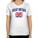 Great Britain Ladies Flag Classic Fit T-Shirt - White