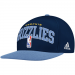 adidas Memphis Grizzlies Authentic NBA Draft Snapback Hat - Navy Blue/Light Blue