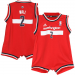 adidas John Wall Washington Wizards Infant Revolution Replica Jersey Creeper - Red