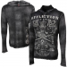 Affliction Underpainting Long Sleeve Hooded Shirt - Black