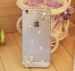 iPhone - Rhinestonel Case Cover For Apple Iphone 5 5s Iphone 4 4s Cover , Luxury Diamond Hard Back Skin Cover Mobile phone Protective Case - 4S