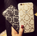 iPhone - Phone Case Back Cover for iPhone 6 Case Damask Vintage Luxury Flower Pattern - Black