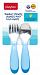 Playtex Comfort Mealtime Fork & Spoon 2-Pack - bleu