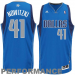 adidas Dirk Nowitzki Dallas Mavericks Revolution 30 Swingman Performance Jersey-Royal Blue